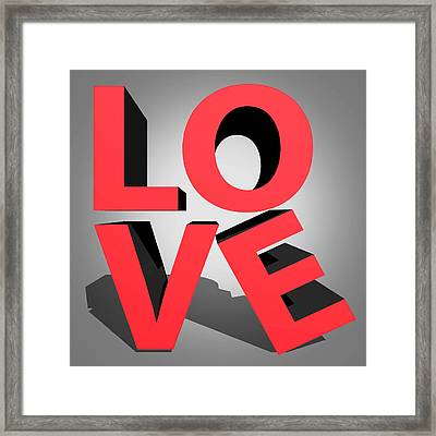 Love 2 Framed Print by Mark Ashkenazi