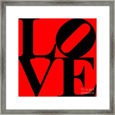 Love 20130707 Black Red Framed Print by Wingsdomain Art and Photography