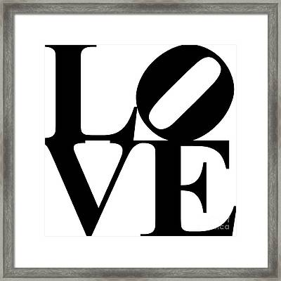 Love 20130707 Black White Framed Print by Wingsdomain Art and Photography