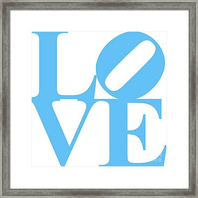 Love 20130707 Blue White Framed Print by Wingsdomain Art and Photography