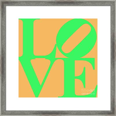 Love 20130707 Green Orange Framed Print by Wingsdomain Art and Photography
