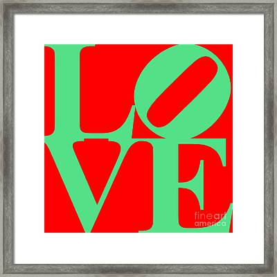 Love 20130707 Green Red Framed Print by Wingsdomain Art and Photography