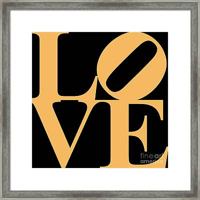 Love 20130707 Orange Black Framed Print by Wingsdomain Art and Photography