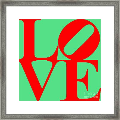 Love 20130707 Red Green Framed Print by Wingsdomain Art and Photography