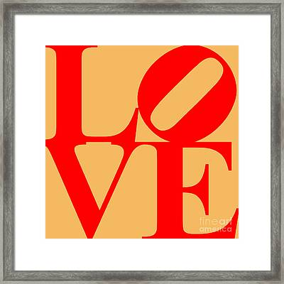 Love 20130707 Red Orange Framed Print by Wingsdomain Art and Photography