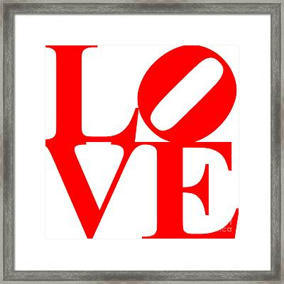 Love 20130707 Red White Framed Print by Wingsdomain Art and Photography
