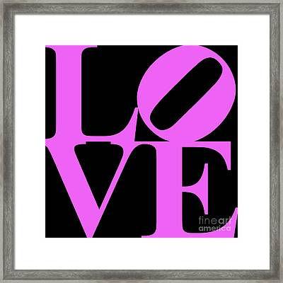 Love 20130707 Violet Black Framed Print by Wingsdomain Art and Photography