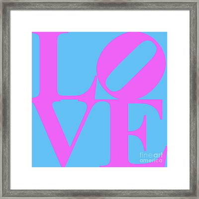 Love 20130707 Violet Blue Framed Print by Wingsdomain Art and Photography