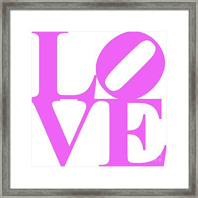 Love 20130707 Violet White Framed Print by Wingsdomain Art and Photography