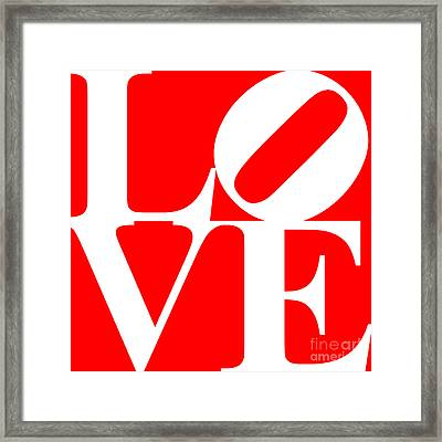 Love 20130707 White Red Framed Print by Wingsdomain Art and Photography