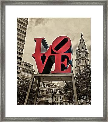 Love 3 Framed Print by Jack Paolini