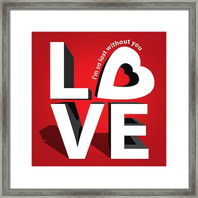 Love 3  Framed Print by Mark Ashkenazi