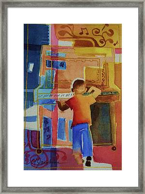 Love A Piano 1 Framed Print by Marilyn Jacobson