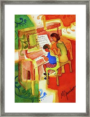 Love A Piano 2 Framed Print by Marilyn Jacobson