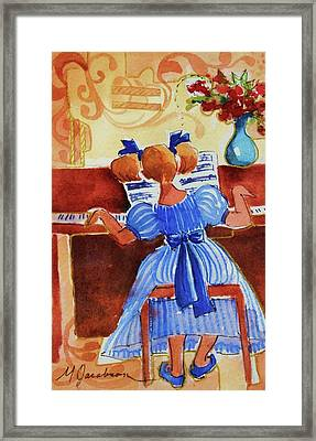 Love A Piano 3 Framed Print by Marilyn Jacobson