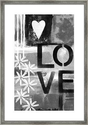 Love- Abstract Painting Framed Print by Linda Woods