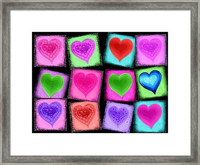 Love All Around  Framed Print by Cindy Edwards