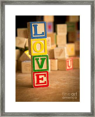 Love - Alphabet Blocks Framed Print by Edward Fielding