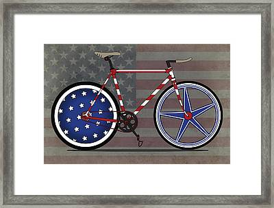 Love America Bike Framed Print