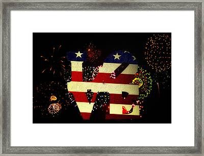 Love American Style Framed Print by Bill Cannon