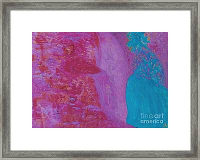 Framed Print featuring the painting Love And Bliss by Ilona Svetluska