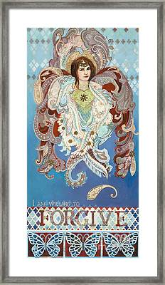 Love And Forgive Framed Print by Diane Soule