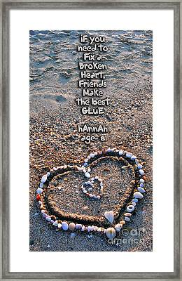 Love And Hearts For Valentine's Day Framed Print by Daliana Pacuraru