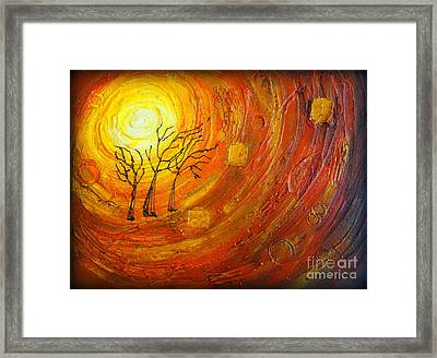Love And Hope Framed Print by Elena  Constantinescu