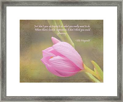 Love And Inspiration Framed Print