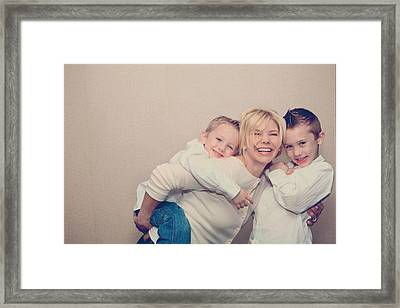 Love And Laughter Framed Print