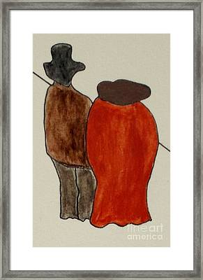 Framed Print featuring the painting Love And Marriage by Bill OConnor