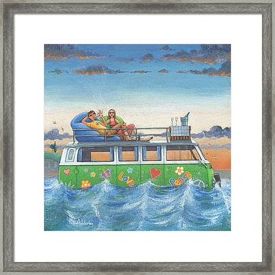 Love And Peace At Sea Framed Print