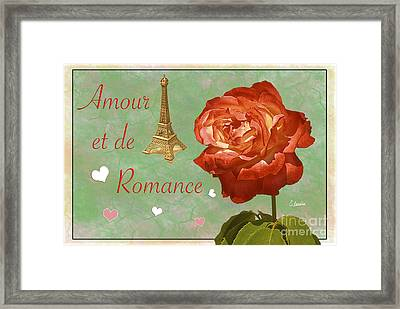 Love And Romance Framed Print by Claudia Ellis