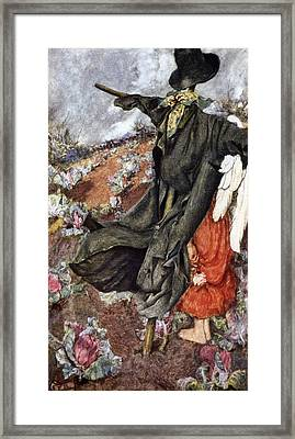 Love And The Scarecrow Framed Print by Eleanor Fortescue Brickdale