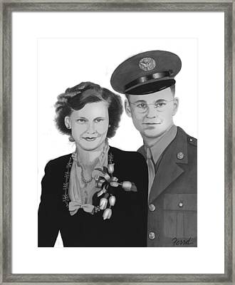 Framed Print featuring the painting Love And War by Ferrel Cordle