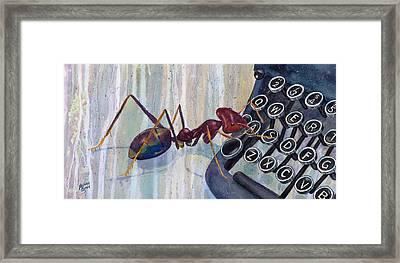 Type A Ant Framed Print by Marie Stone Van Vuuren
