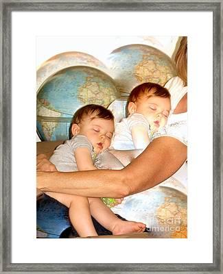 Love Around The World Framed Print by Phyllis Kaltenbach