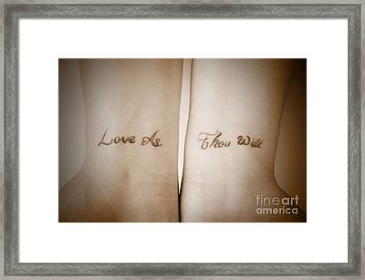 Love As Thou Will Framed Print
