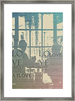Love At Longwood Framed Print by Trish Tritz