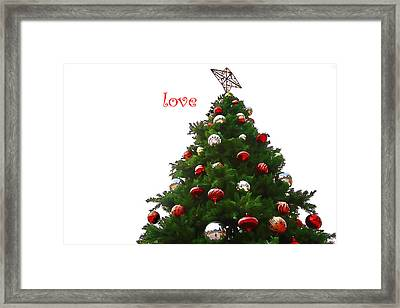Love Framed Print by Audreen Gieger-Hawkins