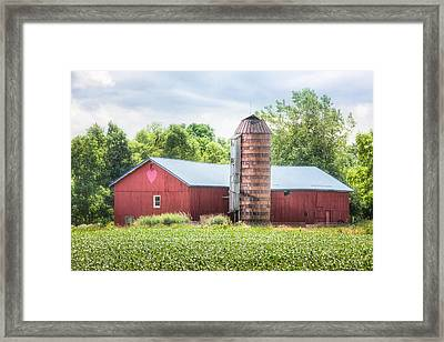 Framed Print featuring the photograph Love Barn by Gary Heller