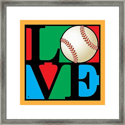 Love Baseball Framed Print by Gary Grayson