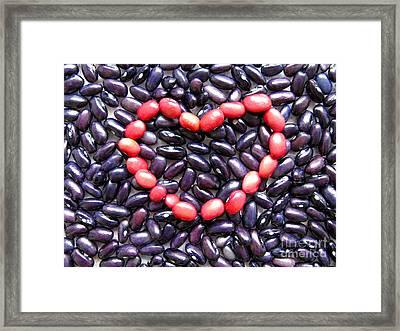 Love Beans #01 Framed Print by Ausra Huntington nee Paulauskaite