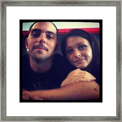 #love #beer #burgers <3 Framed Print