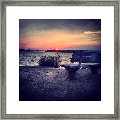 Love Bench Framed Print