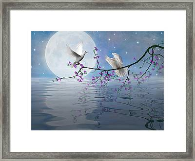 Love Birds By The Light Of The Moon-2 Framed Print