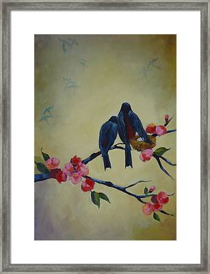 Love Birds Empty Nest Framed Print by Kelley Smith