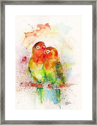 Love Birds Framed Print by Isabel Salvador