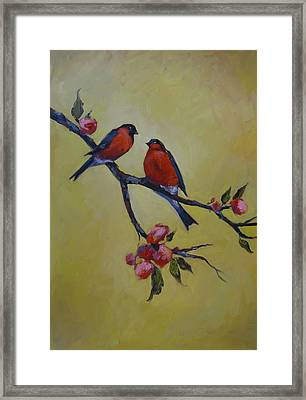 Love Birds Framed Print by Kelley Smith