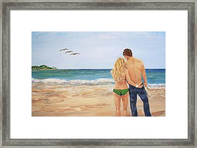 Love Birds Framed Print by Nancy Chenet